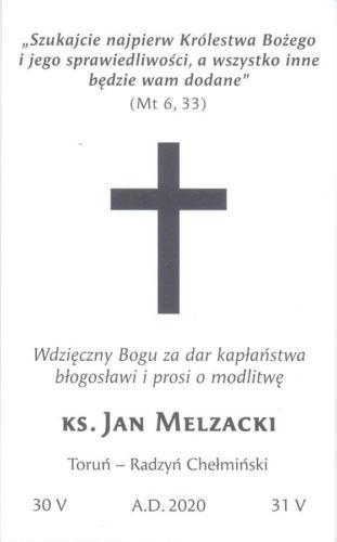 Ks. Jan Melzacki - 01.07.2020