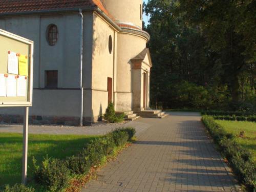Nowe schody wokół kościoła w Grabowcu - 2017
