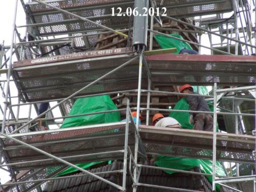 Kapitalny remont wieży kościoła w Złotorii - 2012