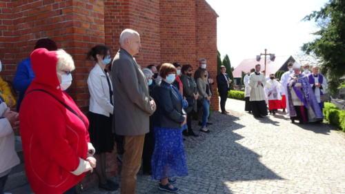 Wizytacja-modlitwa na cmentarzu w Złotorii, 15.05.2021