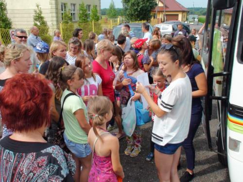 Wyjazd dzieci na kolonię - 03.08.2013